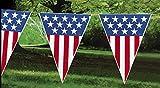 Large USA Flag Patriotic Pennant Banner - 24 feet - Fourth...