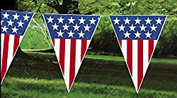 Large 24 Foot Patriotic Pennant Banner