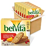 Six boxes with 5 packs each (4 biscuits per pack), 30 total packs, of belVita Cranberry Orange Breakfast Biscuits Crunchy cranberry orange cookies made with whole grain wheat Specially baked to release up to 4 hours of nutritious steady energy Breakf...