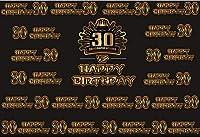HD 10x7ftビニールハッピー30th誕生日パーティーの背景写真撮影記念誕生日パーティーの装飾バナーの背景30年古い写真ブース撮影スタジオの小道具