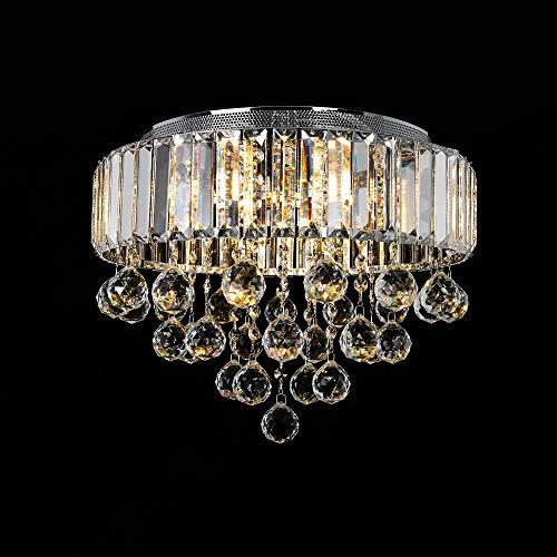 Kristallleuchter, 6-Lichter G9 Premium Moderne elegante runde Deckenleuchte Ø40CM Pendelleuchte Beleuchtung für Wohnzimmer Schlafzimmer Flur Kronleuchter (Glühbirnen sind nicht enthalten)