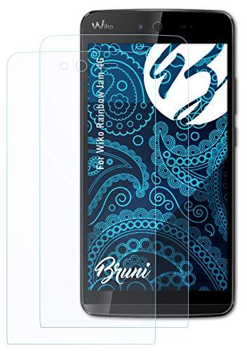 Bruni Schutzfolie kompatibel mit Wiko Rainbow Jam 4G Folie, glasklare Bildschirmschutzfolie (2X)