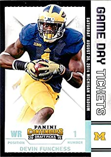 2015 Panini Contenders Draft Picks Game Day Tickets #15 Devin Funchess NM-MT Michigan Wolverines
