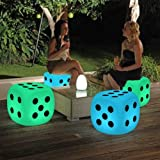 [Magshion] Changing LED Color Light Up Stool Outdoor Indoor Home Decor Tables Chair Seat Cordless with Remote