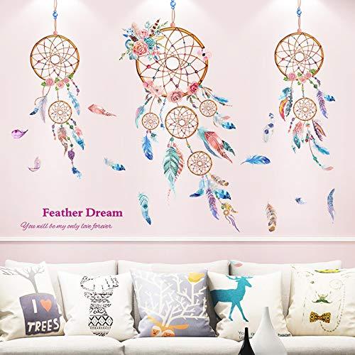 YUAHNG Creativo Caldo Adesivi murali Camera da Letto Comodino Soggiorno Divano Sfondo Decorazioni murali campanelli eolici Monternet