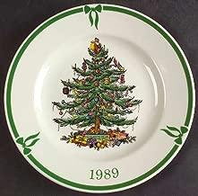 Spode Christmas Tree-Green Trim 1989 Collector Plate, Fine China Dinnerware