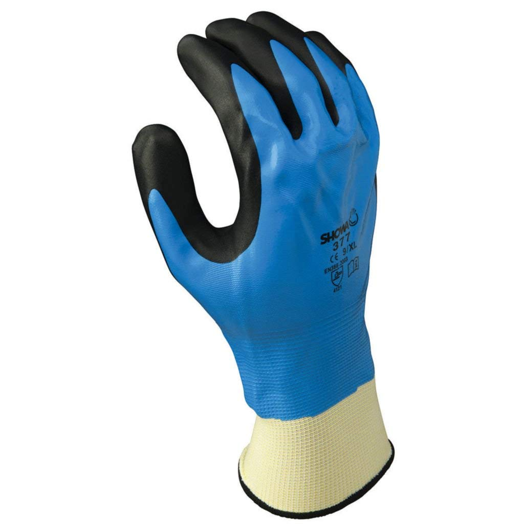 SHOWA 377M-07 Nitrile Ranking TOP14 Foam Coating Glove Polyest with on Albuquerque Mall