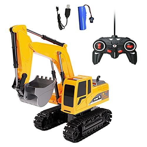 LGLE Top Race - Excavadora de control remoto para niños, juguete de...