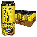 Monster Energy The Doctor Valentino Rossi Edition mit prickelndem Zitrusgeschmack, Energy Drink Palette, EINWEG Dose (24 x 500 ml)
