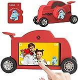 Dragon Touch Mini Cámara Infantil para Niños con Grande de Pantalla Táctil 3.0' IPS /48MP/ WiFi/Tarjeta TF de 32GB, Cámara de Fotos Digital Infantil con Forma de Coche de Carreras