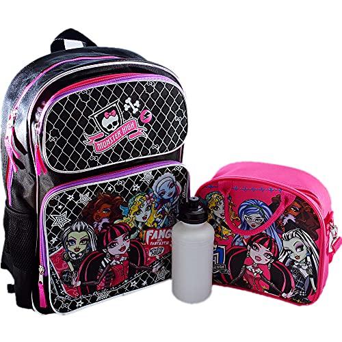 Monster High Lot de 2 sacs à dos avec sac à déjeuner...