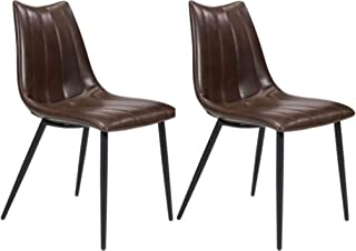 Zuo Modern Norwich Dining Chairs, Set of 2, Brown