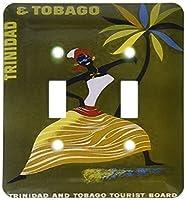 3dRose lsp_163142_2 トリニダードからの女性の画像 手のひらとトリニダードとトバゴのダブルトグルスイッチ