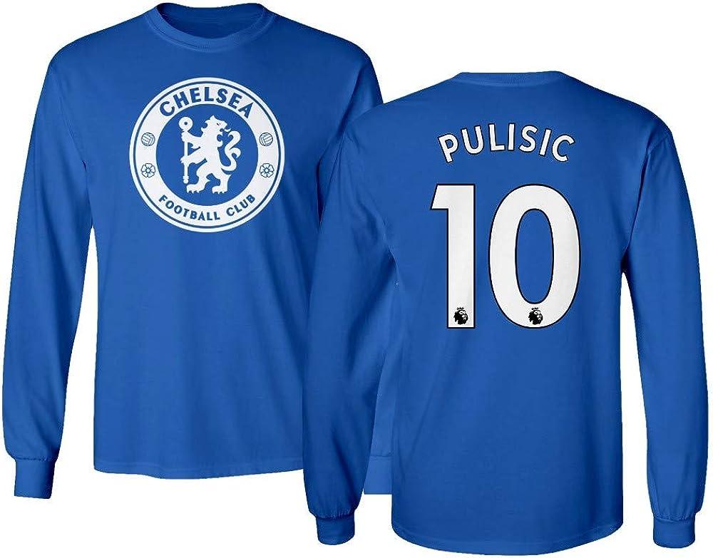 Spark Apparel London Blue #10 Columbus Mall Soccer Jersey Style PULISIC favorite Men's