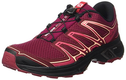 Salomon Wings Flyte 2, Scarpe da Trail Running Donna, Rosso (Beet Red/cabernet/black Beet Red/cabernet/black), 36 2/3 EU