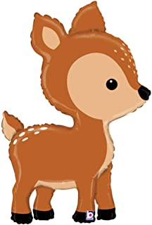DalvayDelights Woodland Critters Deer Fawn Figure Birthday Party Mylar Balloon