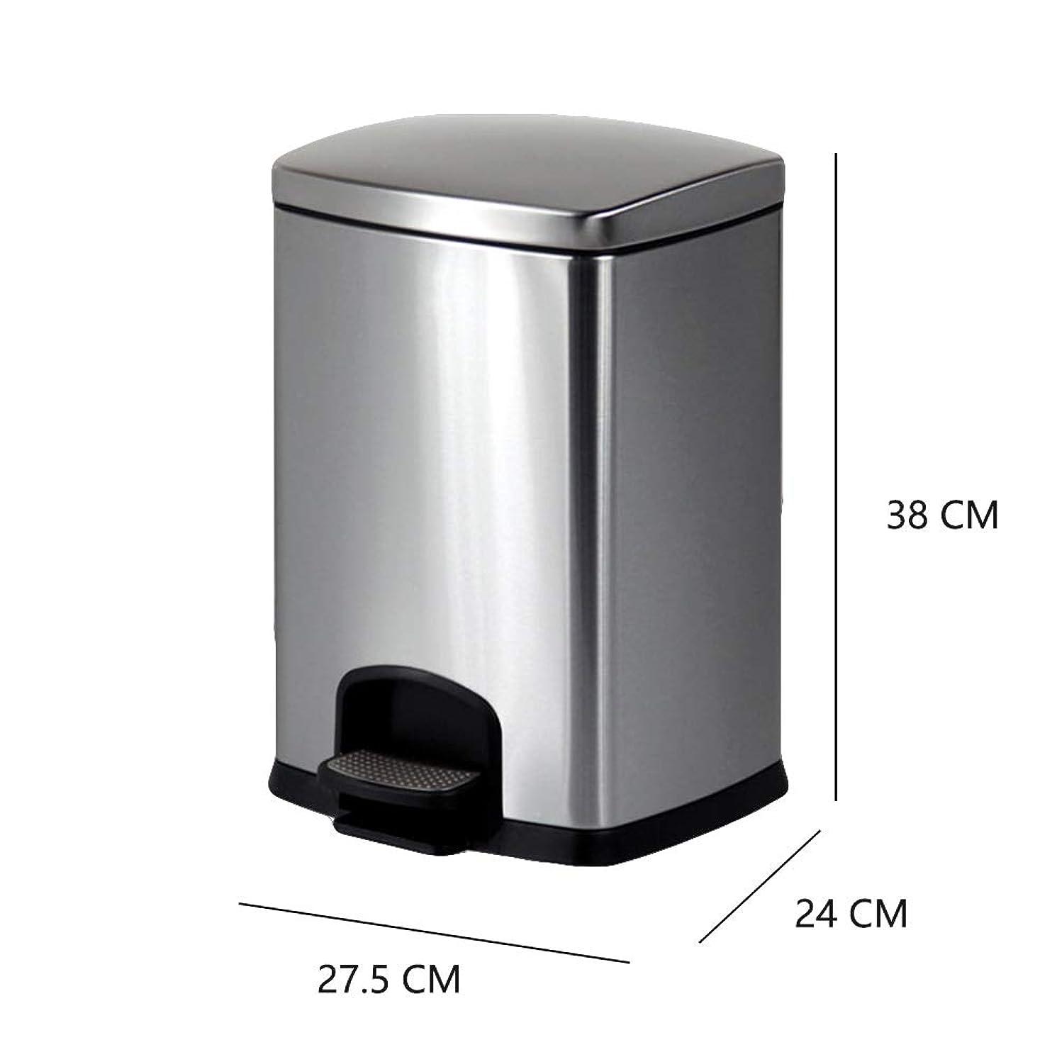 しかし時間公爵RBZCCP ゴミ箱ステンレス鋼大型屋根付き足キッチンキッチンバスルームリビングルーム12 L (Color : Brass)