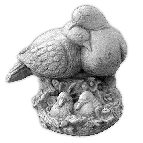 gartendekoparadies.de Süsses Vogelpaar Tauben Tierfiguren Gartenfiguren Steinguss frostfest
