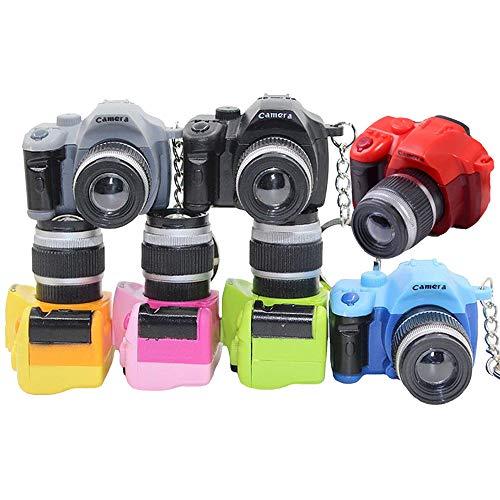 Vientiane Kamera Schlüsselanhänger,7 Farbe Mini Taschenlampe mit LED Licht und Auslöser Ton Keychain,Fotokamera Schlüssel Ring Dekorative kleine Geschenke (5mm)