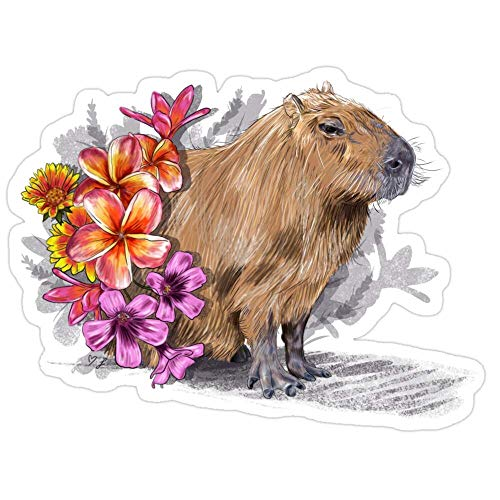 DKISEE Capybara Laptop-Aufkleber, Graffiti-Aufkleber, für Teenager, Mädchen, Frauen, Vinyl-Aufkleber, 15,2 cm (6 Zoll)