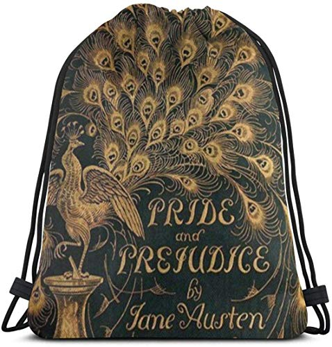 "Yuanmeiju Pride and Prejudice Jane Austen (1894) 3D Print Mochila con cordón Rucksack Shoulder Bags Bolsa de Gimnasio For Adult 16.9""X14"""