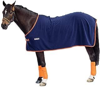 Horseware Ireland Loveson Fleece Cooler, Navy/Navy & Orange, 75