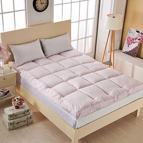 Kunyun Tatami Grueso y cómodo colchón de Tatami/Cama Moda cómodo futón para un Hotel de Cinco Estrellas Siesta Engrosado de un Solo Uso durmiendo (Color : Pink, Talla : 135x200cm)