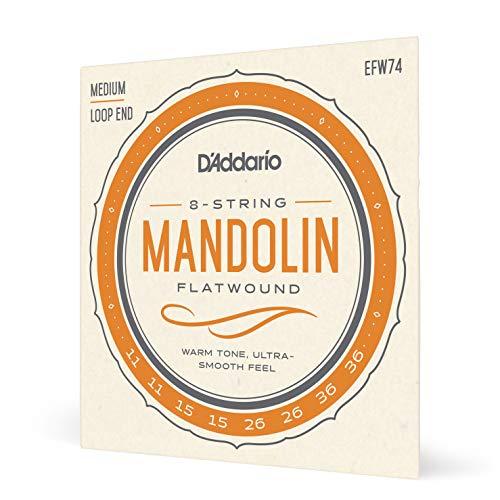 D'Addario EFW74 11-36 Flatwound tamaño mediano cuerdas para mandolina - bronce fósforo