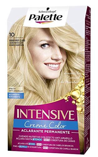 Palette Intense Color Cream - 10 Rubio Muy Claro (Aclarante De 2...