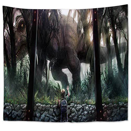Dinosaurio Era Decoración del hogar Bosque Naturaleza Bosque Depredador Aterrador Violencia Tapiz Ancho Decoración del hogar Colgante de Pared