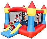 Vivid Casa Inflable para el hogar con la Diapositiva, el Castillo Hinchable con el soplador de Aire Castillo Inflable para los niños Play Play Casa de
