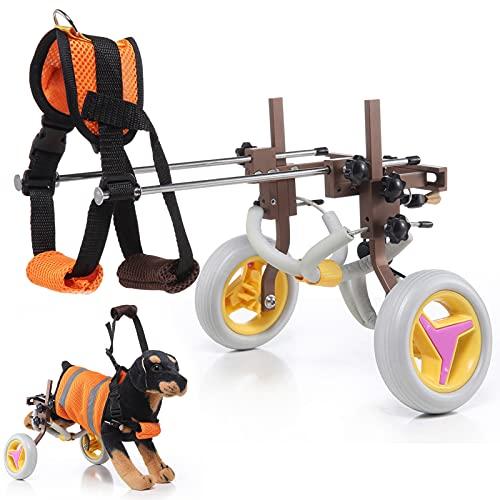 Lightweight Dog Wheelchair, Pet Rehabilitation Cart, Handicap Wheels for Dogs, Assistance Vehicle for Hind Legs Rehabilitation Adjustable Fixing...