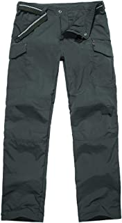 Men's Tactical Hiking Pants Outdoor Adventure Rugged Camping Durable UPF 50+ Quick Dry Cargo Trousers #6046