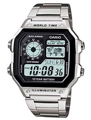 Bruni Schutzfolie kompatibel mit Casio AE-1200WHD-1AVEF Folie, glasklare Bildschirmschutzfolie (2X)