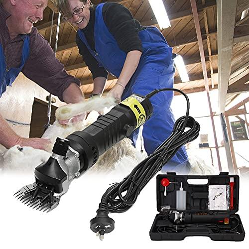 EnweOil 690W 6 Velocidades Ajustables Maquinae, Eléctrica Esquiladora Ovejas con 6 Velocidades, Fabricado en Resistente Aluminio Fundido a Presión, Ventilación de Aire de Refrigeración,Negro