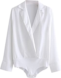Women's Surplice V Neck Work Blouse Bodysuit