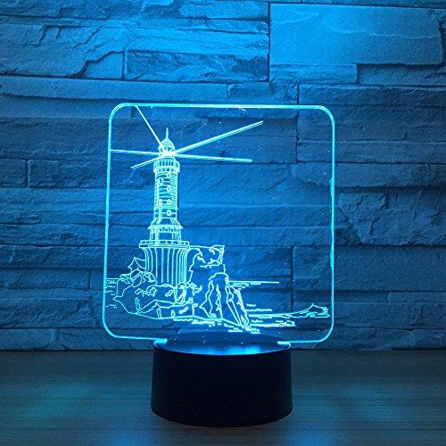 Faro Modelo Noche luz Color Humor lámpara ilusión lámpara de Mesa para decoración del hogar Transporte por Goteo