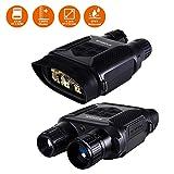 Jumelles de Vision Nocturne Numérique pour la Chasse 7x31 avec Caméra Infrarouge HD TFT LCD 2 Pouces et Caméscope Portée de Visualisation 1300ft / 400M, avec Carte Mémoire 32G Prend Photo et Vidéo