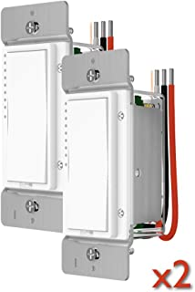 Smart Dimmer Switch 2477D-2 PACK White by INSTEON