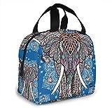 Bolsa de almuerzo de elefante indio para mujeres,niñas,niños,bolsa de picnic aislada,bolsa gourmet,bolsa cálida para el trabajo escolar,oficina,camping,viajes,pesca