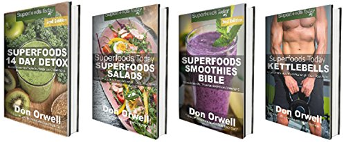 Detox Box Set Two: Superfoods 14 Days Detox + Superfoods Salads + Superfoods Smoothies Bible + Kettlebells Book : Gluten Free Diet, Wheat Free Diet, Heart ... women - weight loss 80) (English Edition)