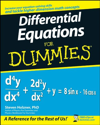 Compare Textbook Prices for Differential Equations For Dummies 1 Edition ISBN 9780470178140 by Holzner, Steven