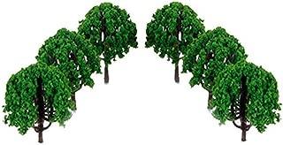 20 Piezas De Paisaje Del Paisaje Del Tren Modelo De árboles De Cemento Plástico