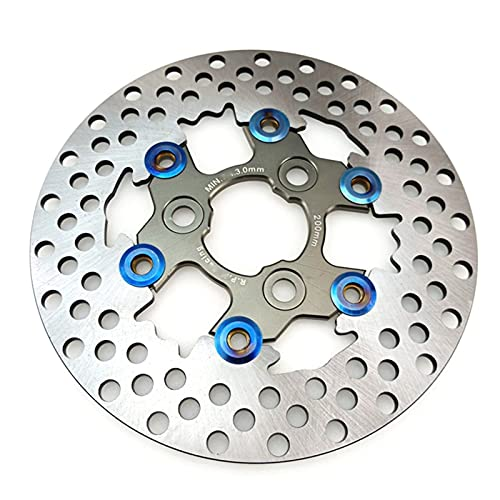 ZFSM Pastillas de Freno Freno De Disco Flotante De Aluminio General para Motocicleta, Disco De Freno De Disco para Motocicleta, 200mm, Agujero De Freno De Disco Trasero para Motocicleta, 57mm