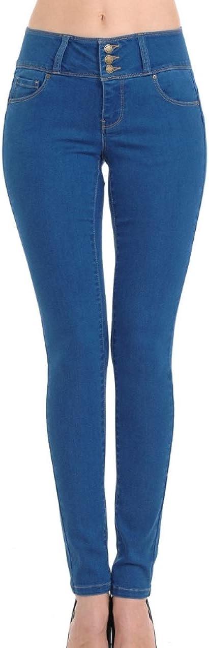 Wax Womens Juniors Butt I Love Flattering Mid Rise Skinny Jeans