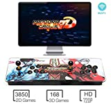 3D Pandora Games Arcade Game Console - 4018 Games Installed, WiFi Function to Add More Games, Support 3D Games, Search/Save/Hide/Pause Games, 1280x720 Full HD, Favorite List, 4 Players Online Game