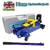 2 Ton Hydraulic Trolley Floor Jack Portable Heavy Duty Car Lifting Tool,5.3-12.6 inch Lifting Range