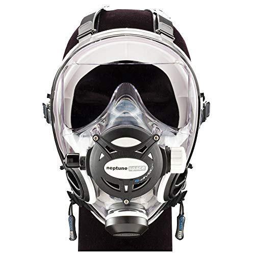 OCEAN REEF Neptune Space GDivers Integrated Full Face Diving Mask, White, Small/Medium