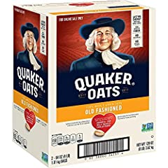 Heart Healthy Whole Grains: Quaker Oats are 100 percent Whole Grains; Diets rich in whole grain foods and other plant foods and low in saturated fat & cholesterol may help reduce the risk of heart disease Good Source of Fiber: Quaker Oats provide a g...