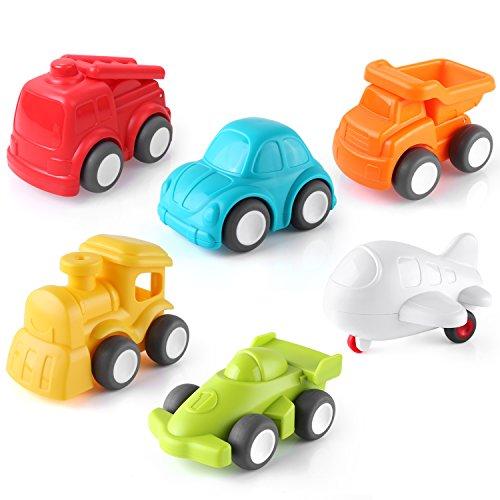 pedy 6 Stücke Spielzeugautos Set Geschenk Spielzeug Push and Go Auto für 3-12 Jahre Jungen Mädchen Kinder